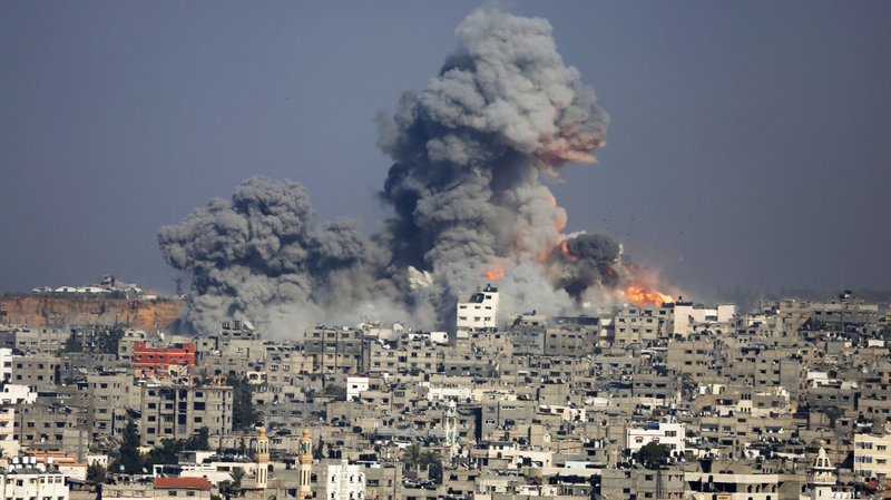 Israel bombing of the Gaza Strip.