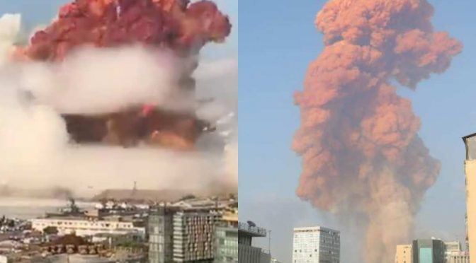 Huge Explosions in Beirut Lebanon Blamed on Israel