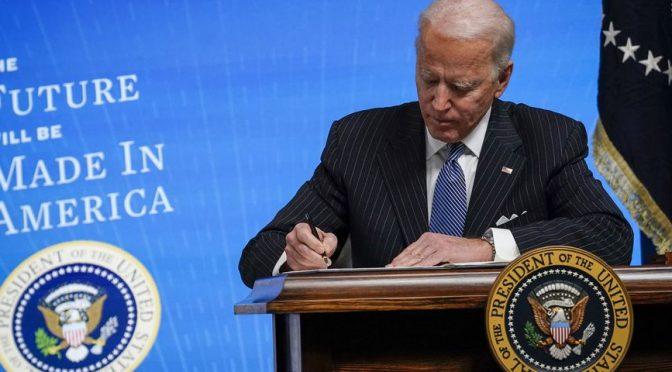First Week As President, Joe Biden Tosses Women, Unions & the American People Under the Globalist Bus