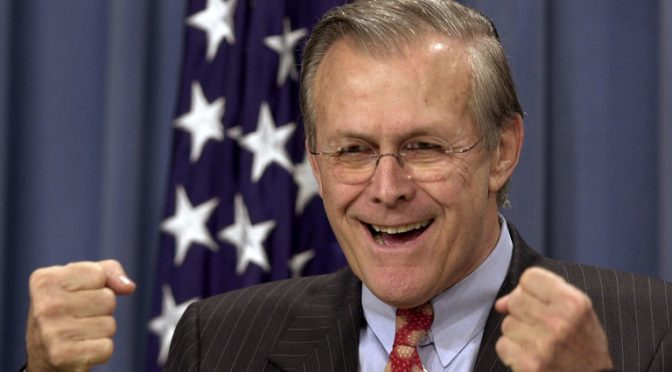I Saw Rumsfeld Deliberately Caused the Deaths of U.S. Troops for Personal Gain