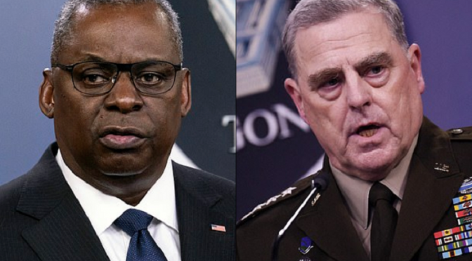 90 Retired Generals and Admirals Call for Austin and Milley to Resign Immediately